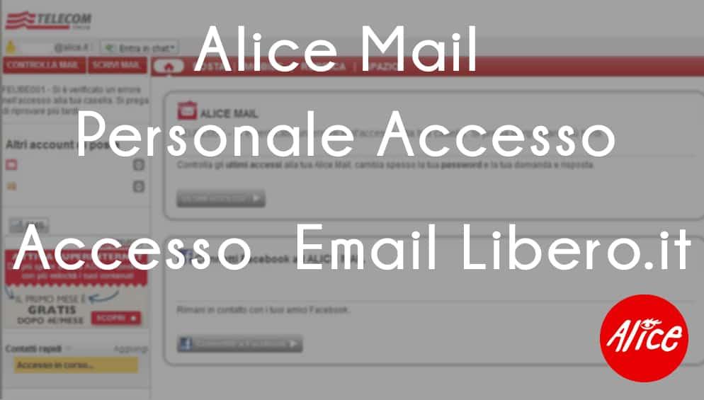 Alice Mail Personale Accesso