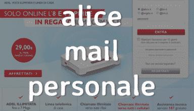 Posta Elettronica Personale Alice