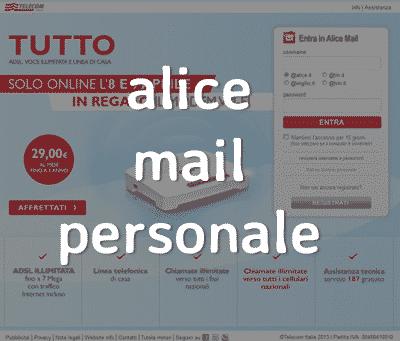 alice mail personale acceso